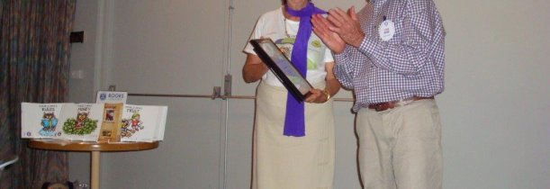 Rotary Club Certificate of Appreciation to author Maureen Nathan