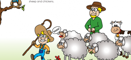 Story of Money Sample Page - Self Sufficient Farmers
