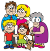 Children's Picture Story Book Cartoon Characters.